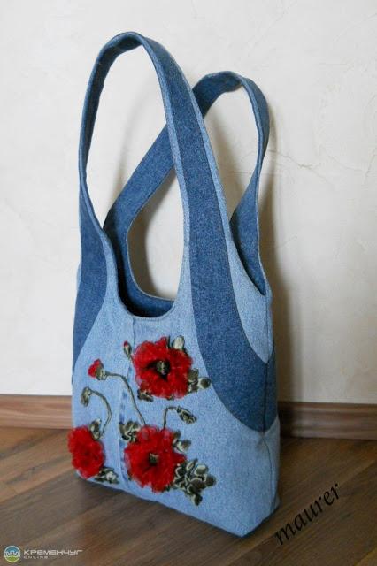 Вышитые сумки из ткани своими руками 58