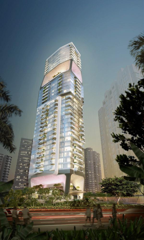 Концепты архитектуры: круглый небоскреб и вертикальный город