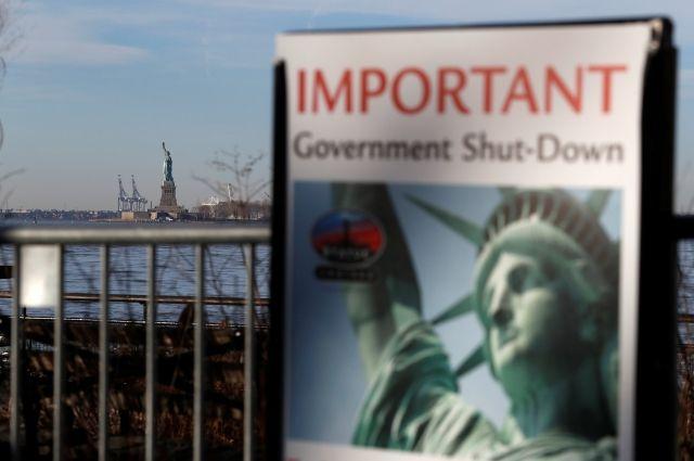В США статую Свободы закрыли для посетителей