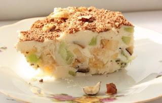 Творожное мороженое с фруктами, очень красиво и просто