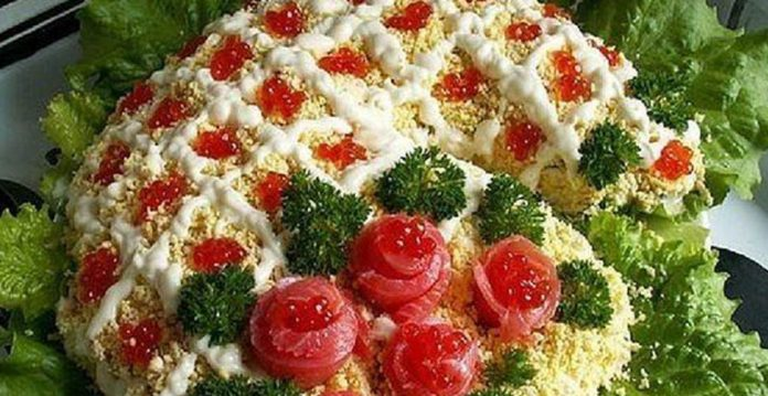 Готовим самое лучшее к празднику — салат «Рог Изобилия»