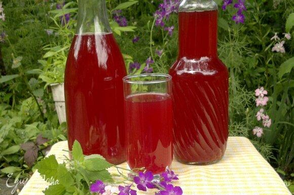 Свекольный квас готов. Использовать его в качестве освежающего напитка или как основу для окрошки. Угощайтесь! Приятного аппетита!