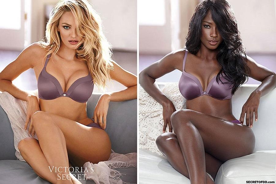 Черная модель воссоздает снимки знаменитых кампаний,  подчеркивая однообразие индустрии моды