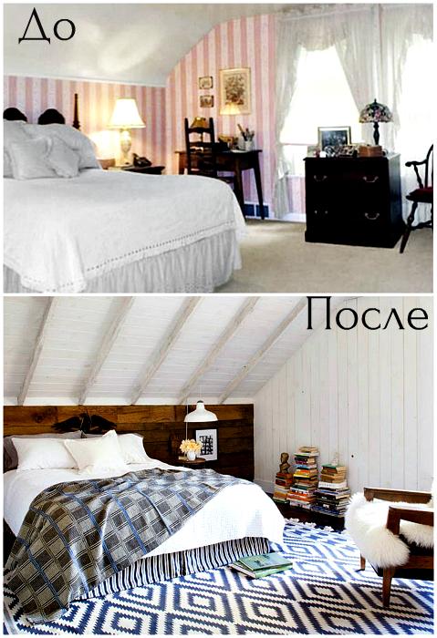 Трансформация простой бело-розовой спальни.