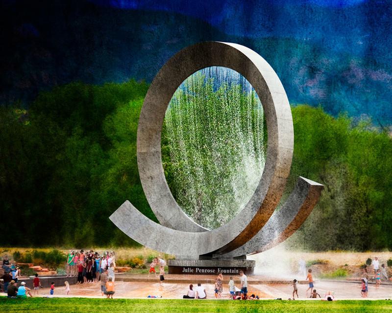 Фонтан Джули Пенроуз, Колорадо-Спрингс, США город, достопримечательность, интересное, мир, подборка, страна, фонтан, фото