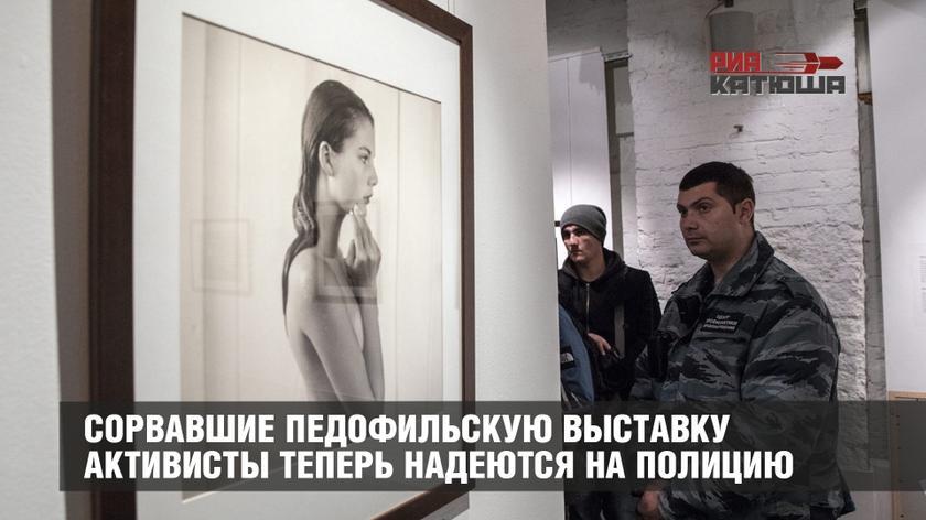 Сорвавшие педофильскую выставку активисты теперь надеются на полицию