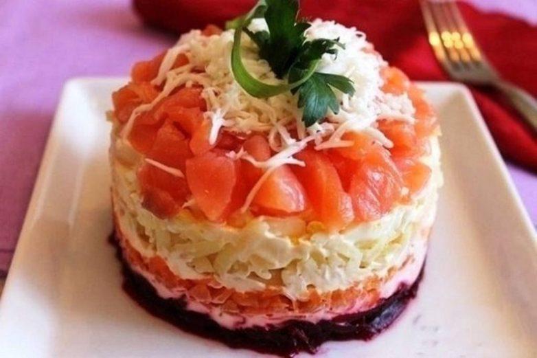 Салат «Семга на шубе»
