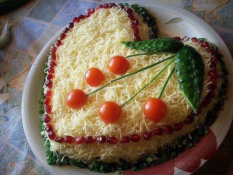 Салат из КУРИЦЫ с СЫРОМ, сытное объедение для всей семьи