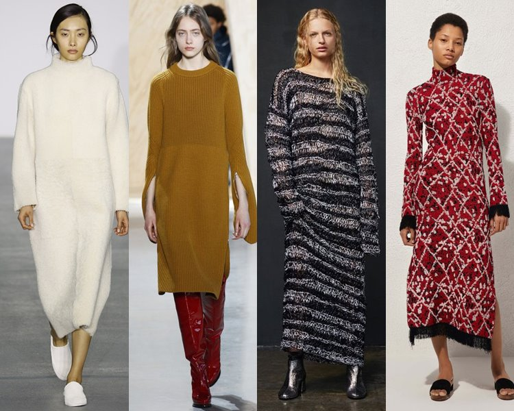 Длинные платья повседневные осень зима