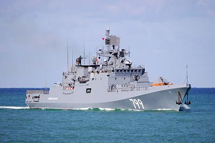 Российский фрегат с «Калибрами» заметили на пути в Азовское море