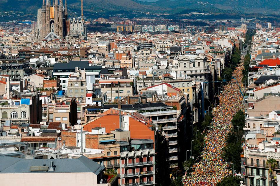 Над Каталонией безоблачное небо