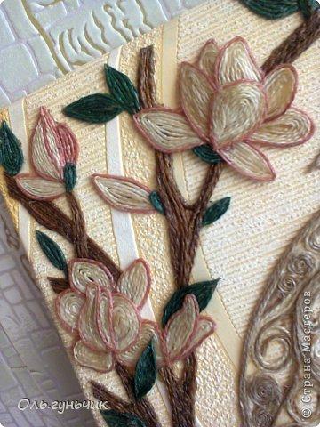 Картина панно рисунок Мастер-класс Моделирование конструирование Филигранный павлин МК Шпагат фото 45