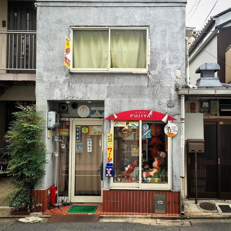 Магазинчик электротоваров архитектура, дома, здания, киото, маленькие здания, местный колорит, фото, япония