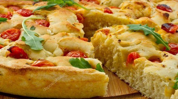 Вкуснейшая итальянская лепешка фокачча