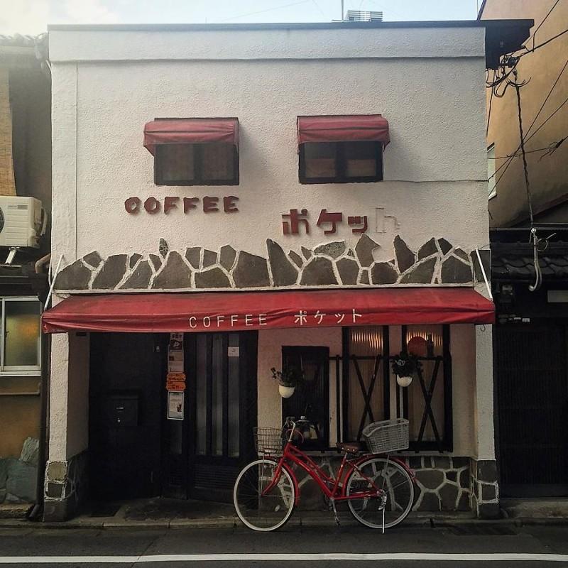 Ретро-кофейня архитектура, дома, здания, киото, маленькие здания, местный колорит, фото, япония