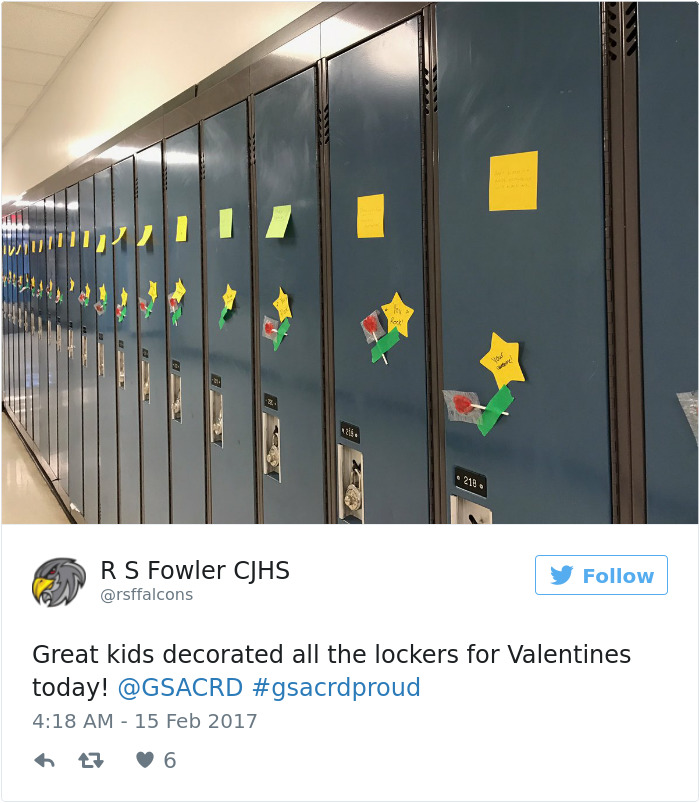 Anonymous Student Surprises Entire School With 1500+ Handmade Valentines He's Been Making Since September