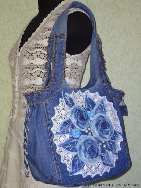 Модная сумка из старых джинс