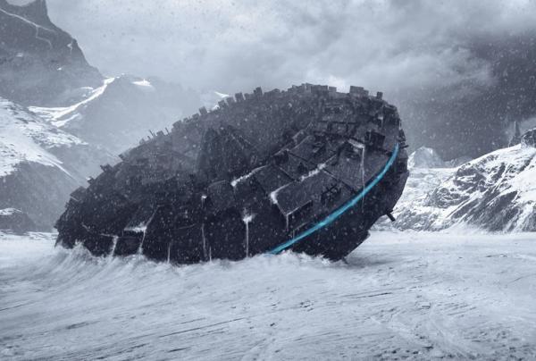 «Летающая тарелка»,  вмерзшая во льды Антарктиды, замечена на снимках со спутника