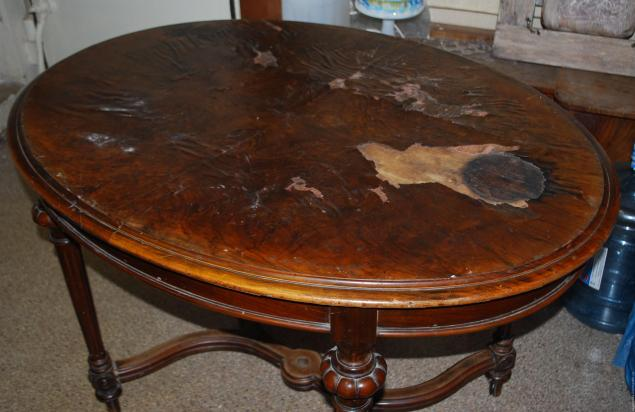 Реставрация столика журнального деревянного