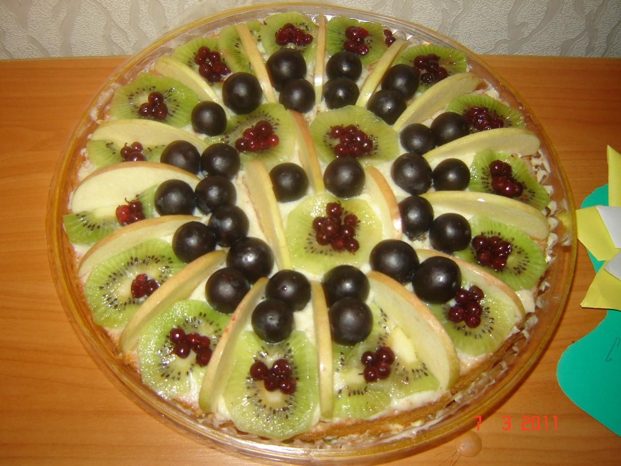 Украшение тортов фруктами: практические советы начинающим 57