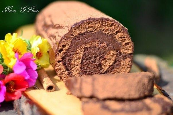 Безумно вкусно! Шоколадный рулет «Трюфель» (Truffle)
