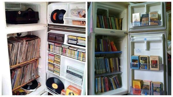 Для пластинок и книг холодильник станет надежной защитой от пыли