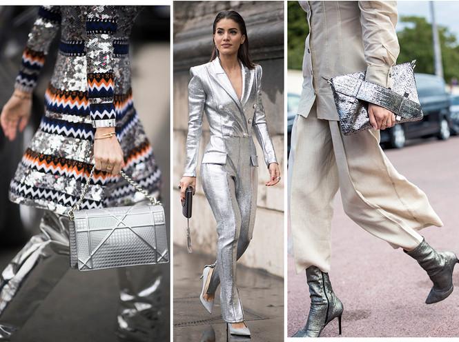 Стальной блеск: как носить вещи в цвете металлик повседневно