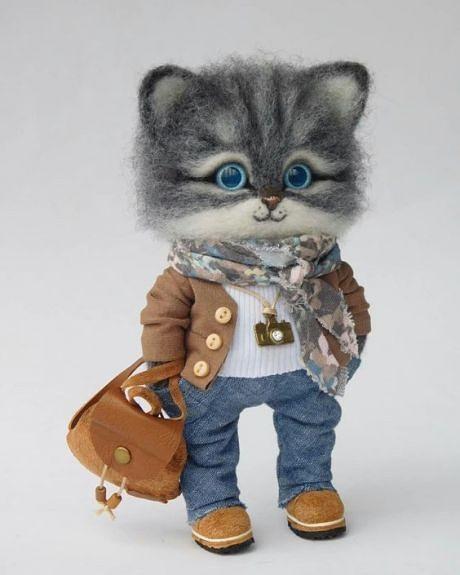 Идеи как сделать игрушку-котика