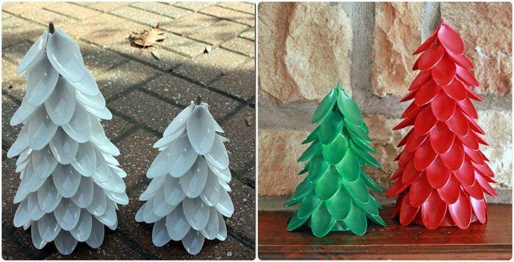 Новогодние поделки из пластиковых ложек