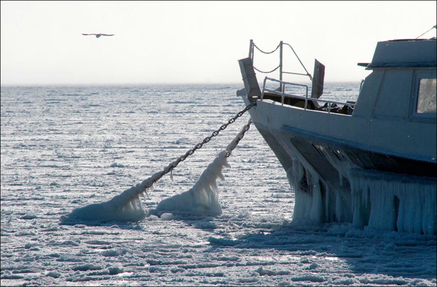 Весь военный флот Украины вмёрз в лёд в Одесском заливе (ФОТО) ...