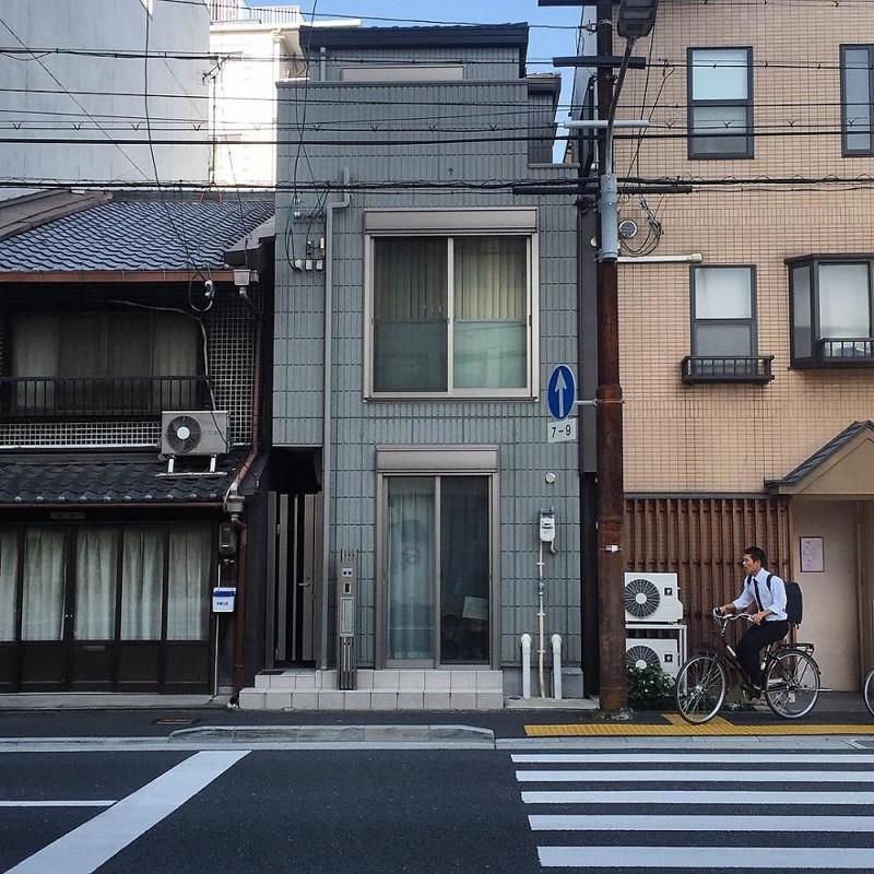 Серый дом архитектура, дома, здания, киото, маленькие здания, местный колорит, фото, япония