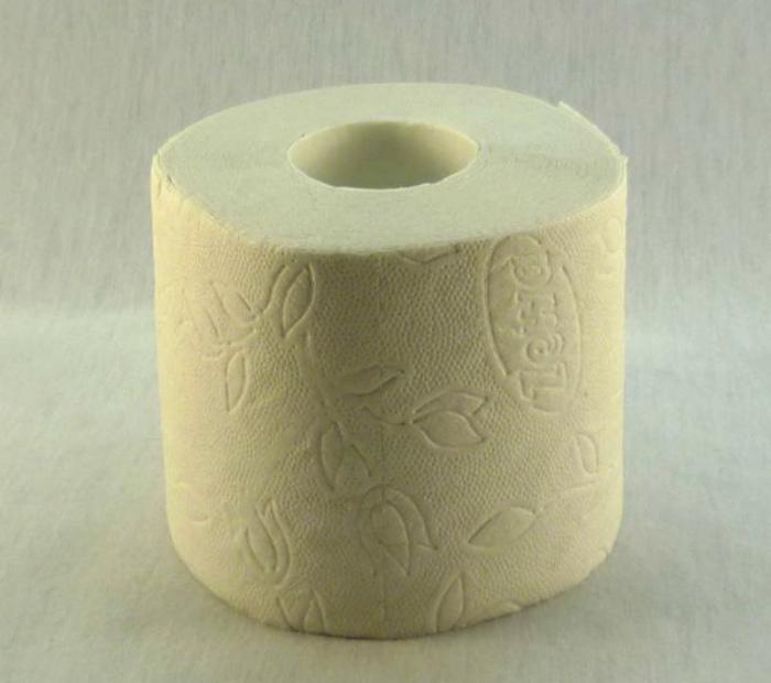 Туалетная бумага с узором.