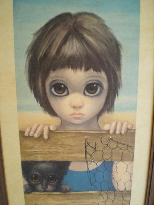 Большие глаза от художницы Маргарет Кин. ¦ Фото: livemaster.ru.