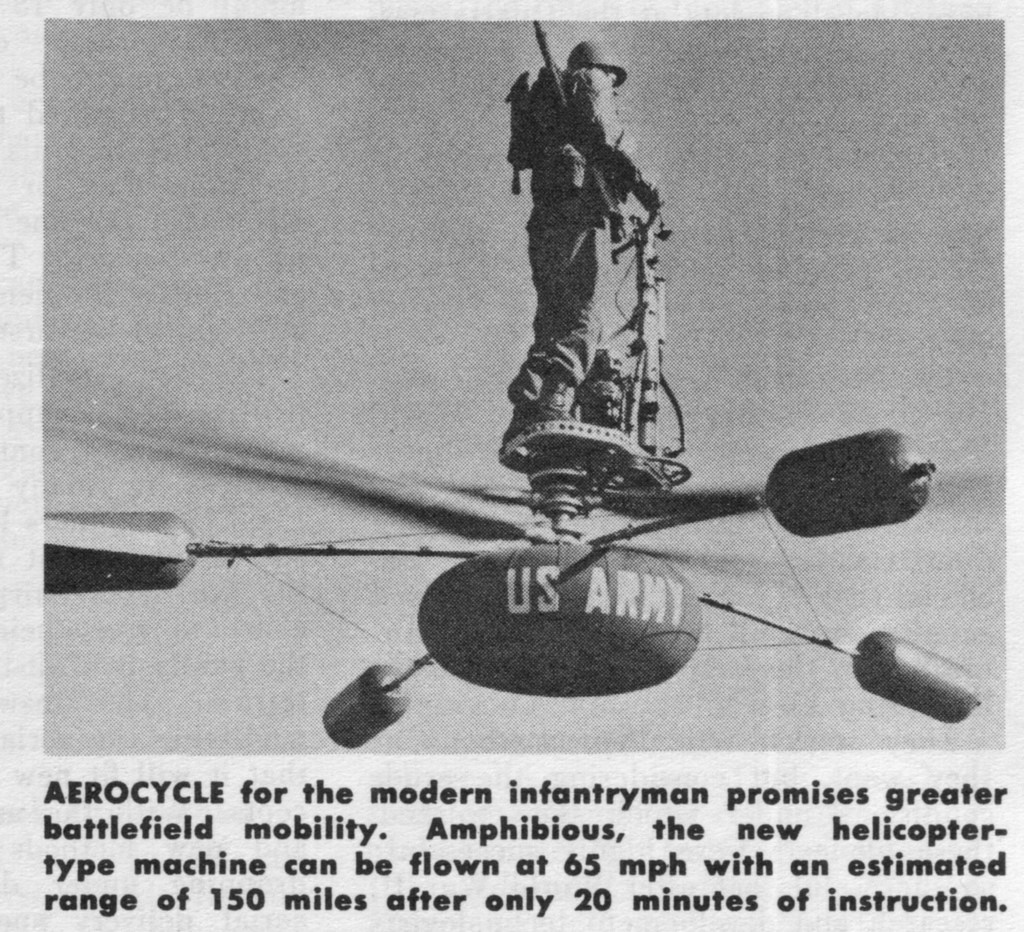 Персональная платформа для полетов была придумана еще в 1950х годах