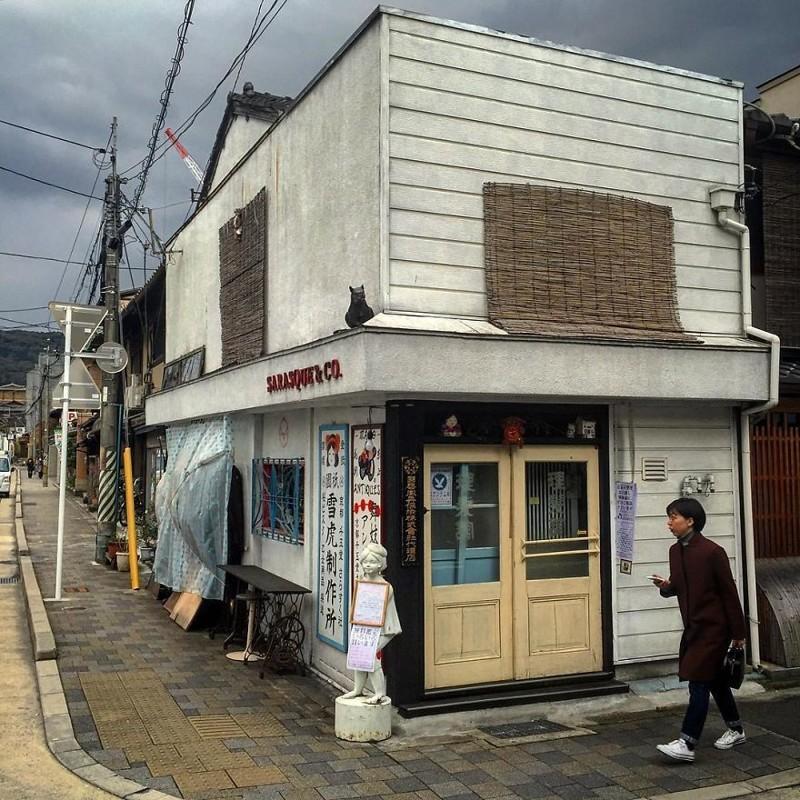 """Антикварный магазин """"Маико"""" архитектура, дома, здания, киото, маленькие здания, местный колорит, фото, япония"""