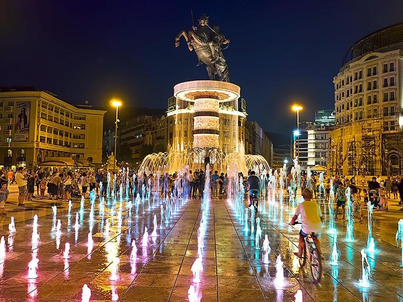 Александр Великий, Скопье, Македония город, достопримечательность, интересное, мир, подборка, страна, фонтан, фото