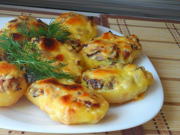 Восхитительная запеченная картошка с грибами. Пальчики оближешь!