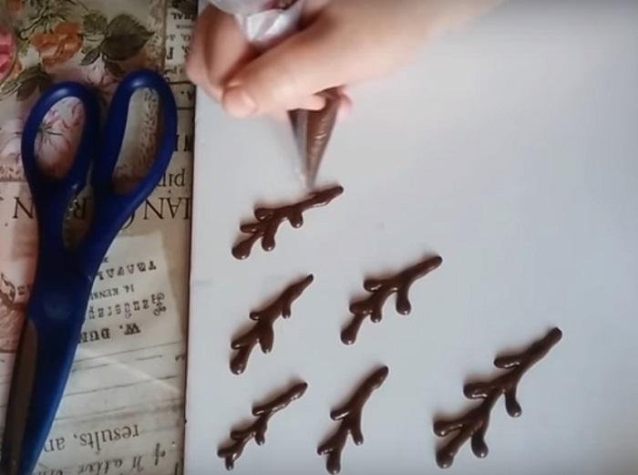 веточки вербы из шоколада