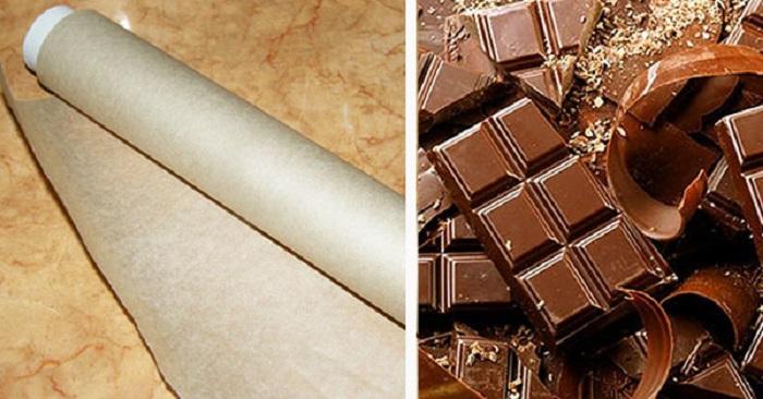 декор из шоколада и пузырчатой пленки