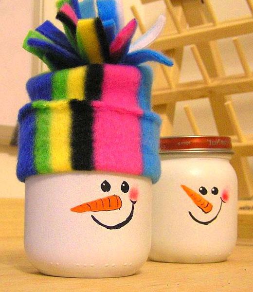 снеговик в шапочке