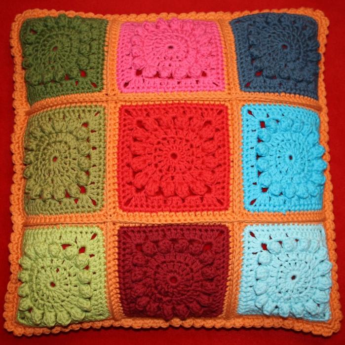 Крючок вязание подушки видео