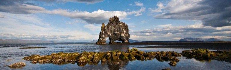 Скала Хвитсеркюр в Исландии