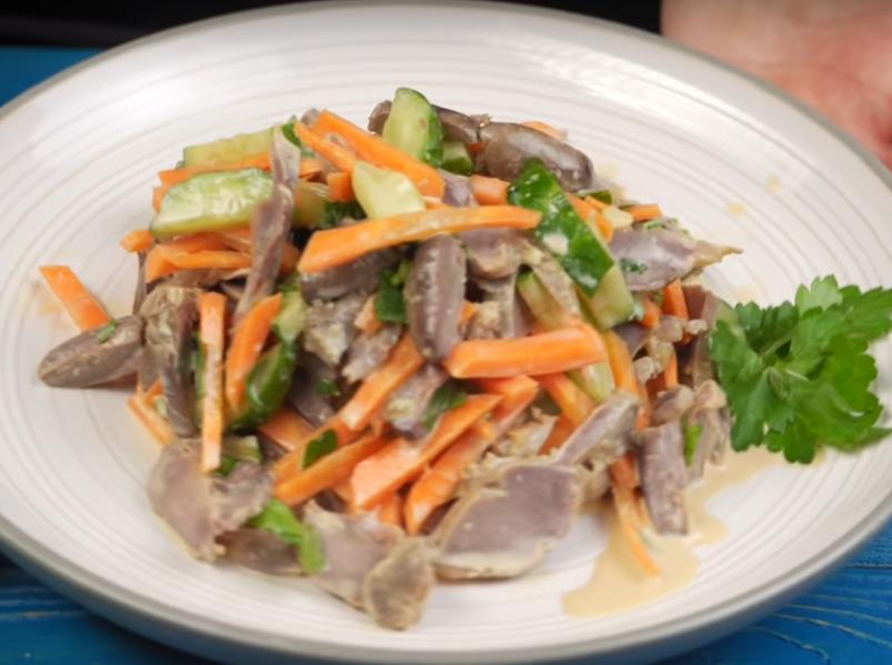 Мясной салат из субпродуктов