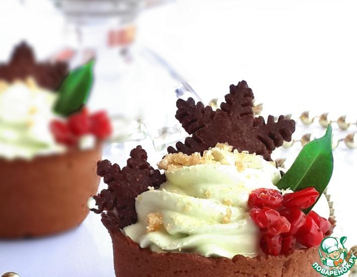 Рецепт: Новогодние пирожные Корзиночка