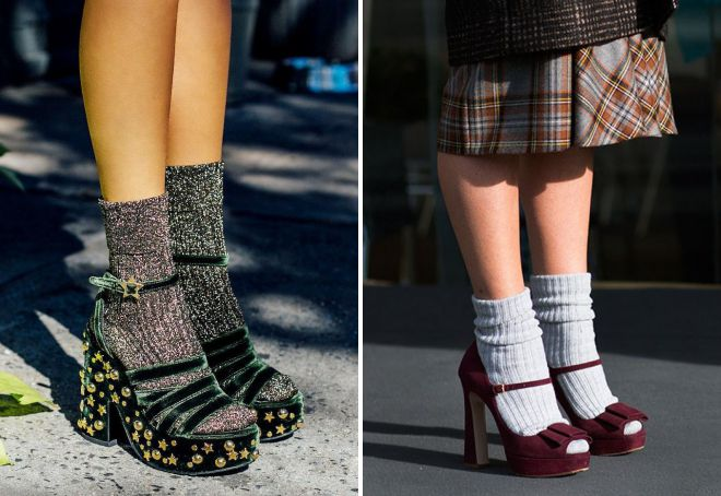 босоножки с теплыми носками