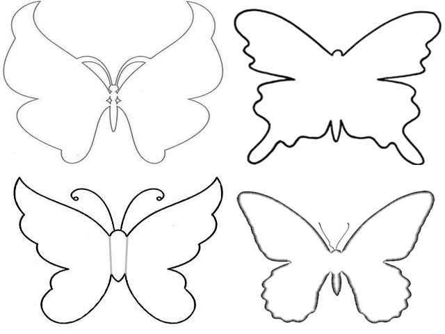 Сделать своими руками трафарет бабочек 25