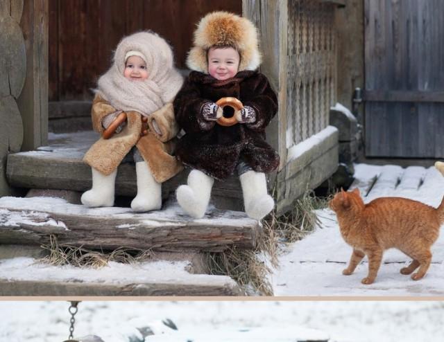 Фотопроект для малышей 1,5-2 лет в деревенском стиле