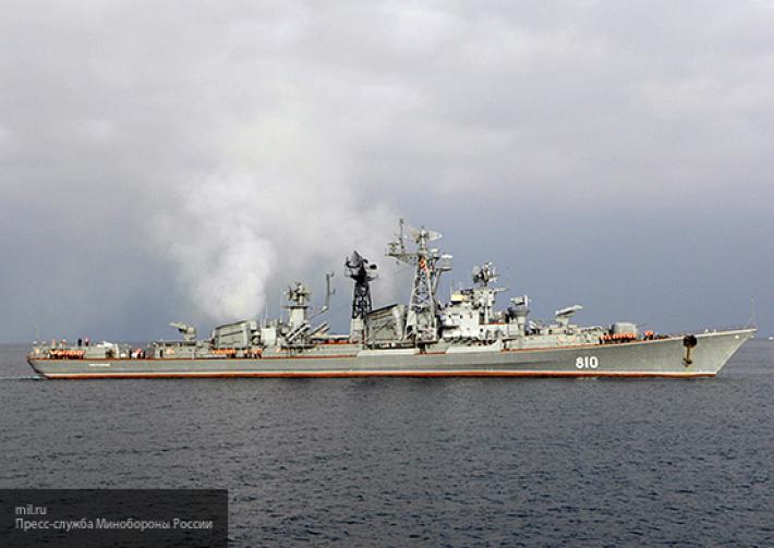 Старейший в России боевой корабль «Сметливый» прибыл в Средиземноморье