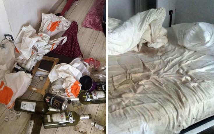 Как выглядит комната после самого худшего гостя в истории