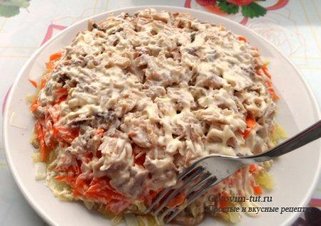 белая ночь салат видео